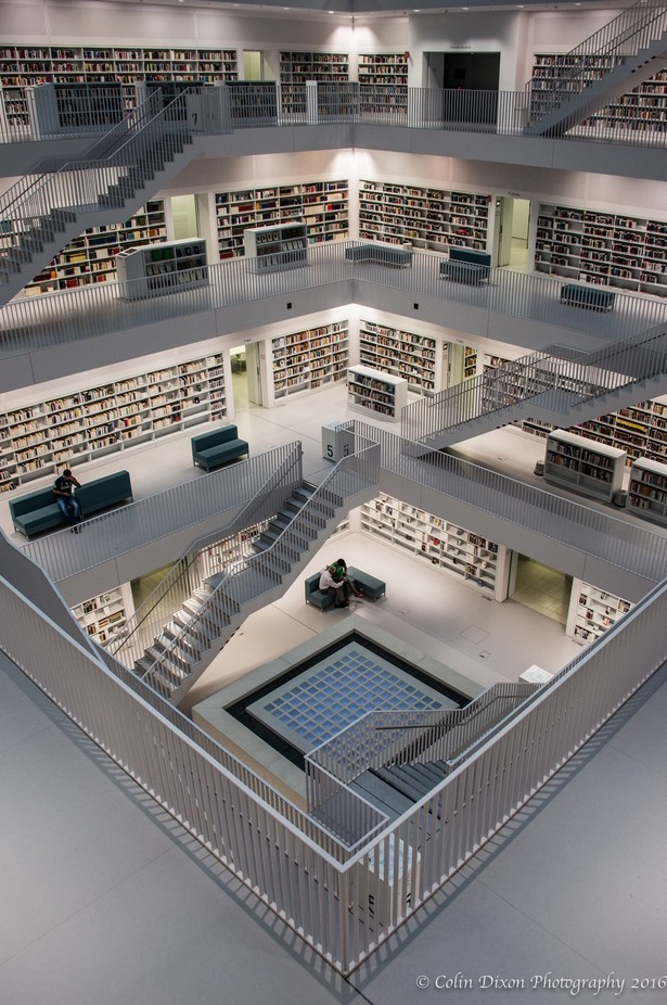 Stuttgart Bibliothek 1 by ColinDixonPhotography - Geometry And Architecture Photo Contest