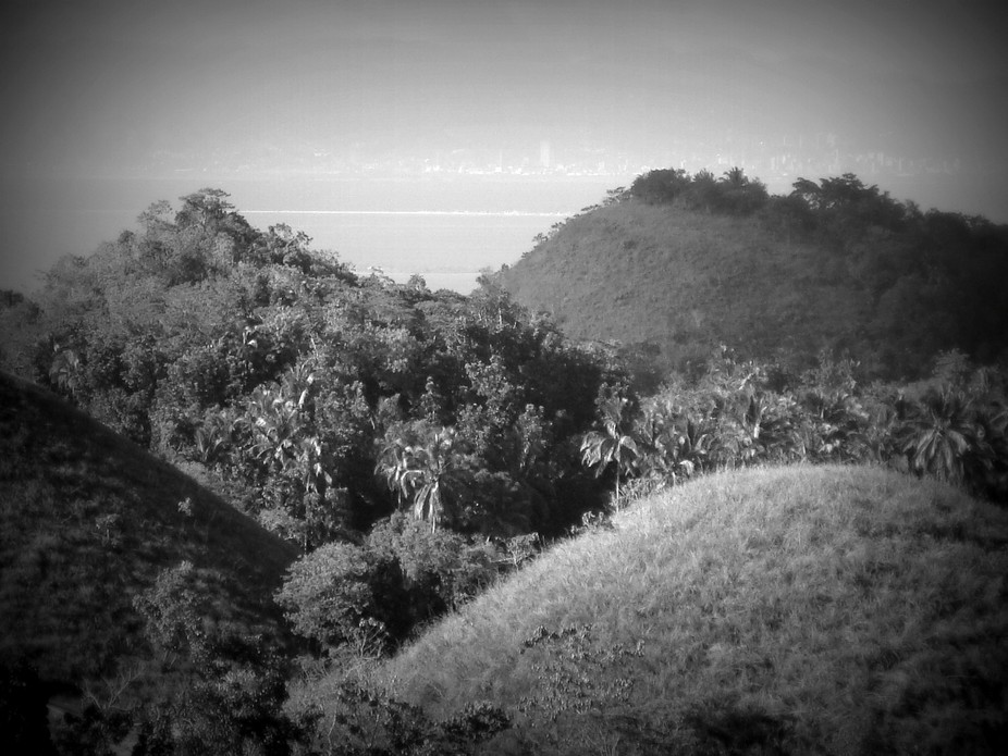 View of some parts of the famous chocolate hills of Bohol fronting Cebu, Philippines