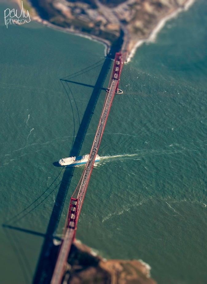 Golden Gate Bridge from the air by Pauly-Photography - TiltShift Effect Photo Contest