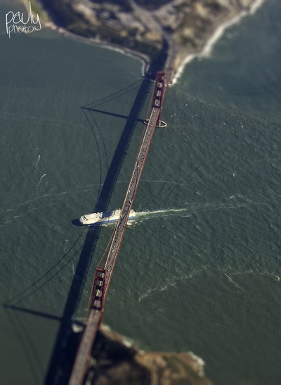 Golden Gate Bridge from the air