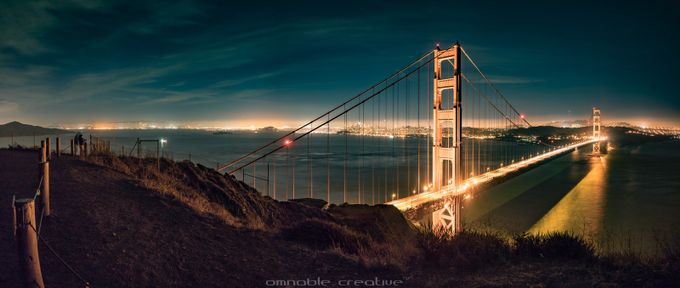 Golden Gate Panorama by Londe-Photography - Bridges In The Night Photo Contest
