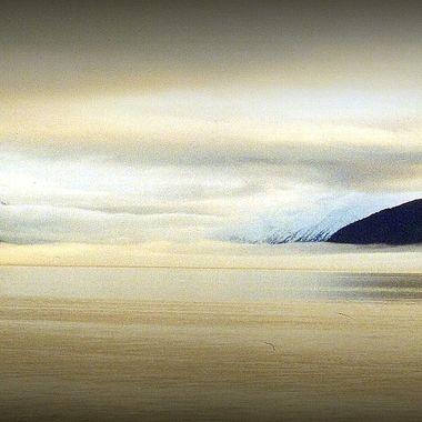 Driving south out of Anchorage on Seward Hwy, took this photo of Turnagain Arm.