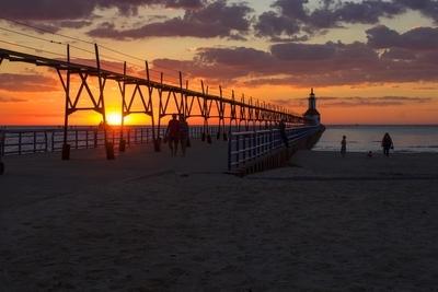 Deep Sunset Silhouette