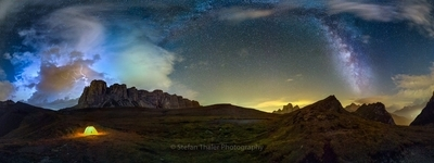 Thunderstorm meets Milky Way