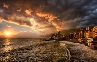 Camogli golden hour
