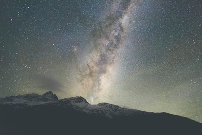 Milky Way Erupting over Mount Aspiring National Park