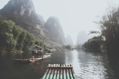 Bamboo Rafting along the Yulong River
