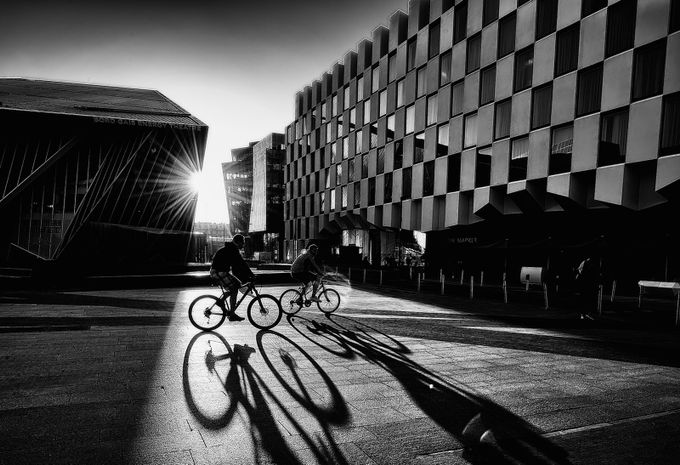 Shadows in the city  by aidagri - City Life In Black And White Photo Contest