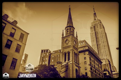 Church and the empire state building