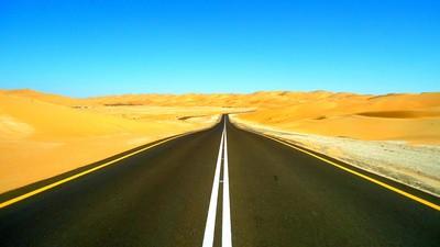 Road to Moreeb dunes, UAE
