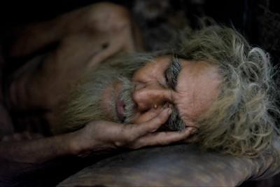 Old wild man in Benares