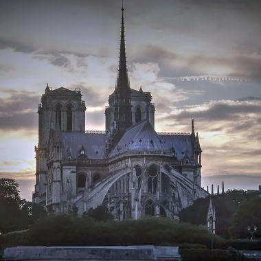 "Notre Dame at Dusk From the Seine - The ""France"" Collection"