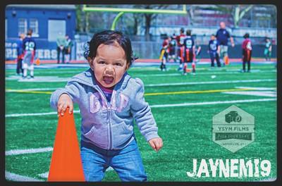 Baby girl mad football