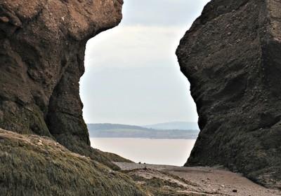 Hopewell Rocks - Looking Between Two Rocks