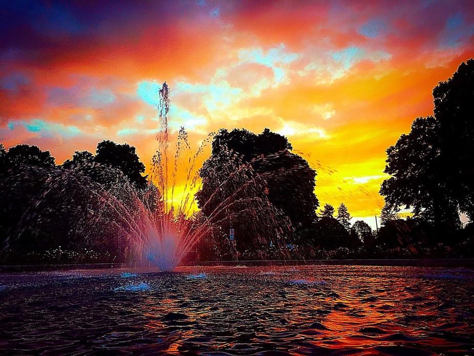 Sun Sets at Peninsula Park Rose Garden