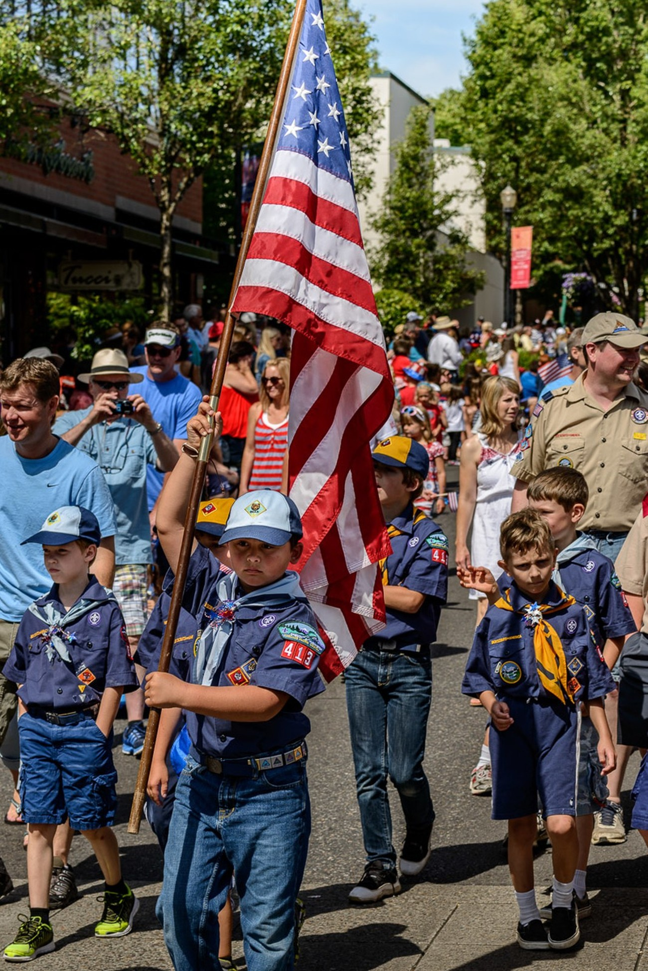 Youth in the Independence Day Parade in Lake Oswego, Oregon.