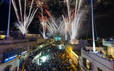 Fireworks in Mellieha