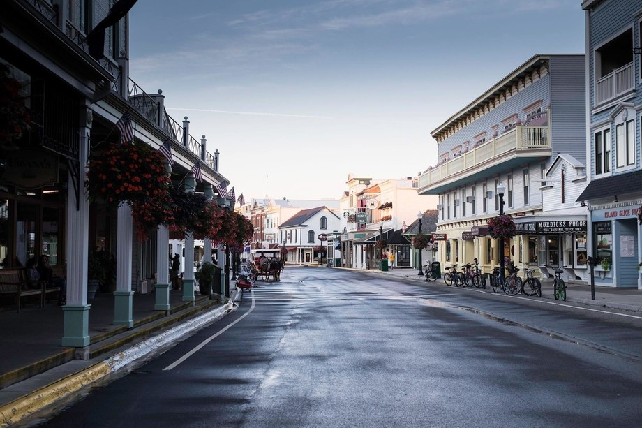 6 AM, before the first ferry on to the island when the town is still asleep, the first carriage r...