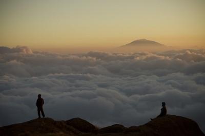 View of Mt. Meru from Shira Cave, Kilimanjaro