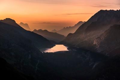 Sunrise over Lago Fedaia