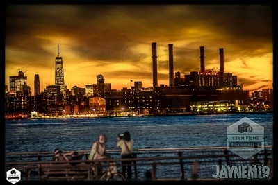 Freedom Tower Dramatic Sky Golden-1