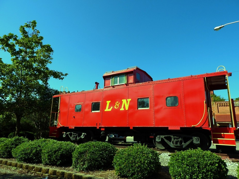 Local town shows off it's Red Caboose