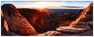 Sunrise from Mesa Arch Viewpoint