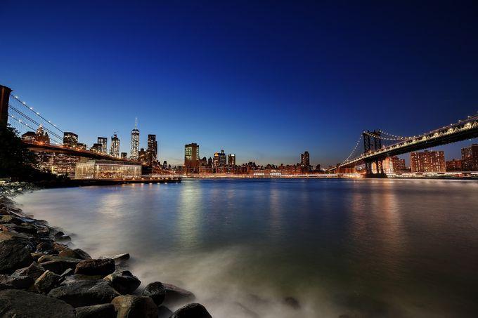 Brooklyn and Manhattan Bridges by vb99 - Night Wonders Photo Contest