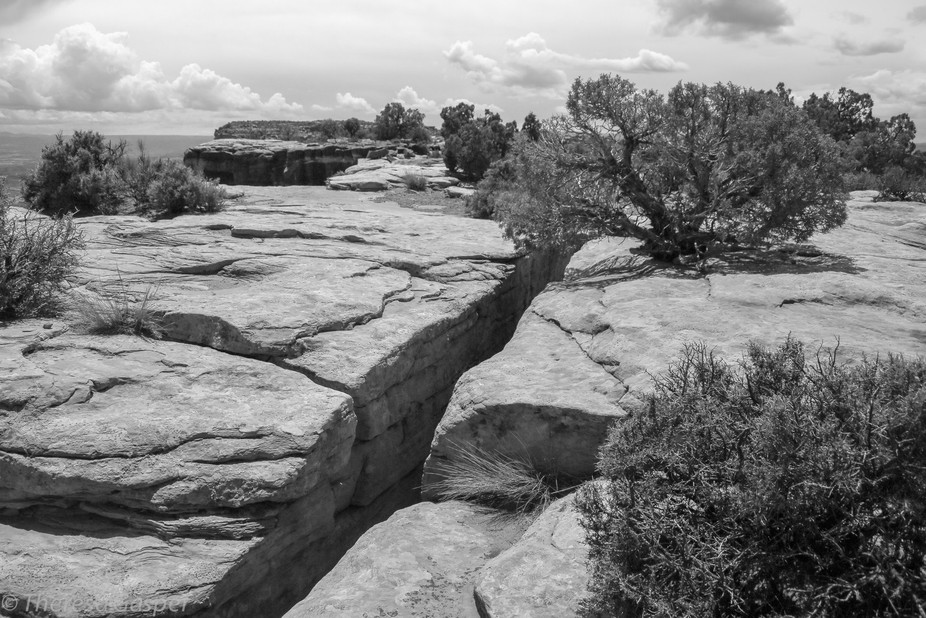 Part of the Grandview Point trail in Canyonlands National Park Utah