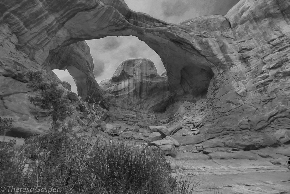 Double Arch in Arches National Park Utah