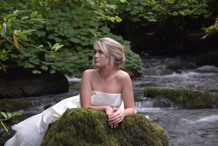 Bride on the rock