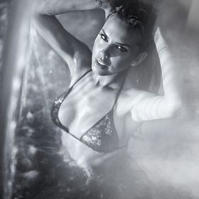 My beautiful friend asked me to take a shot in the pool for her modelling portfolio. We used the waterfall pump in the pool for this shot and (i ...