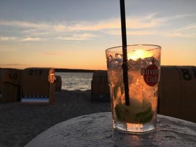 Rum on the beach