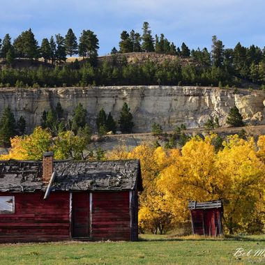 Old building in the Wyoming Black Hills.