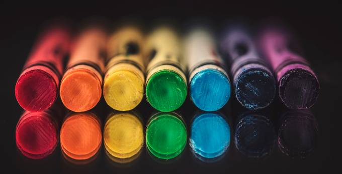 Crayons by genevievelapointe - Composing With Circles Photo Contest