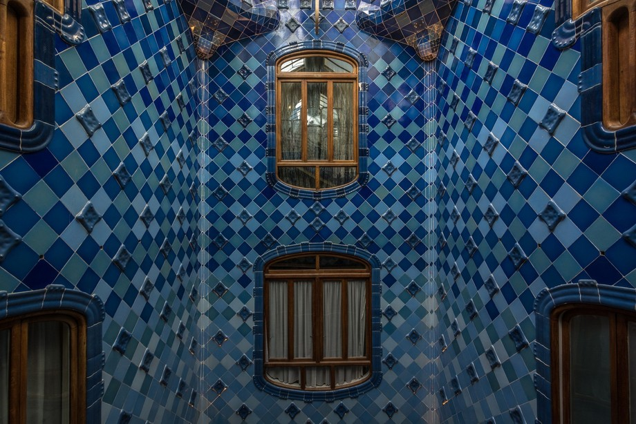 Taken within the staircase of Casa Batlló in Barcelona.