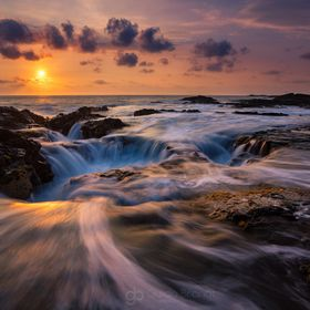 A fabulous sunset shoot at this location near Kona with the sun setting into the Pacific. The tide was quite high, so it didn't allow me to ...