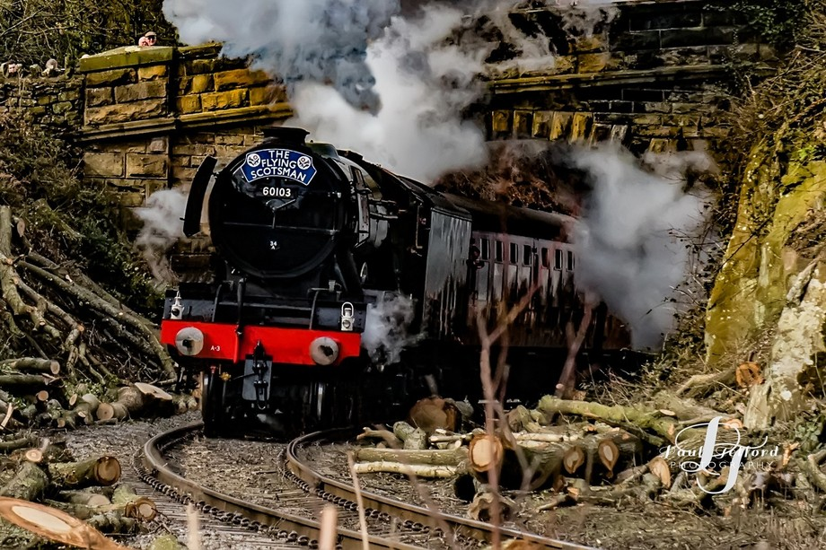 The Flying Scotsman back on the rails after a 4 million pound  refurb