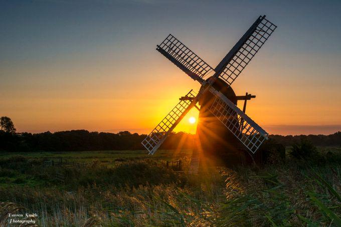 Herringfleet Windpump by Darren-Smith - The Sun Behind Photo Contest