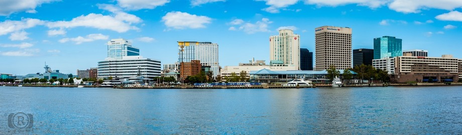 Norfolk,Virginia,panorama,downtown