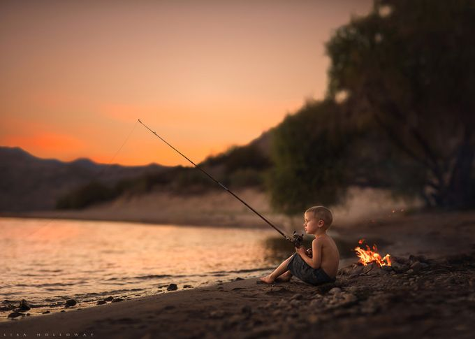 Fishing Break by lisaholloway - Children In Nature Photo Contest