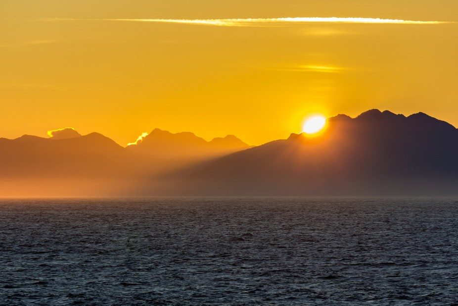 Good morning from the Inside Passage on the way to Alaska