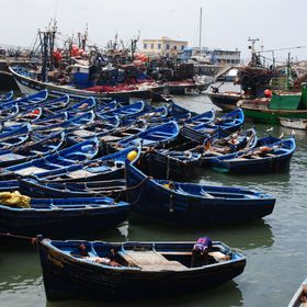 boats of Essaoura, Morocco