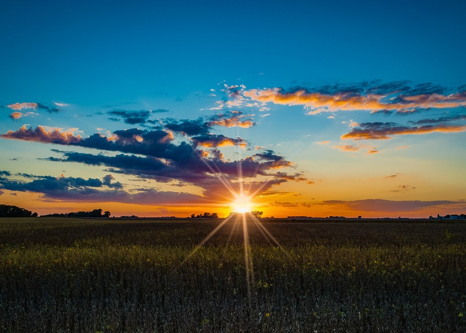 The clouds finally broke up after a long cloudy and misty day.  I headed out to catch this sunset...