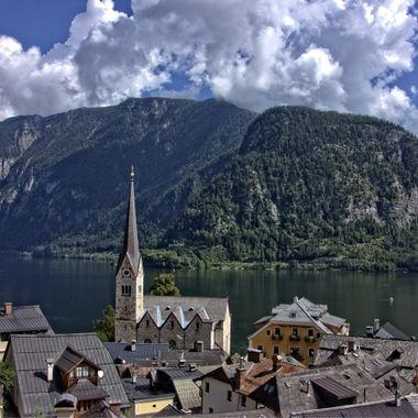 I took this photo when we visited Hallstatt in Austria this year (2016) with my wife and her aunts. One day we decided to walk around Hallstatt and as we were climbing a hill I took this photo.