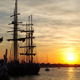 sunset at Rostok Hansa Sail fest 2015