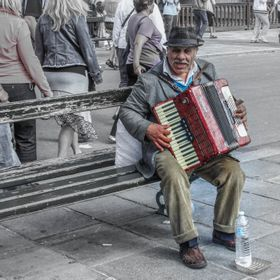 There are street performers everywhere in Paris, but this man seemed special.