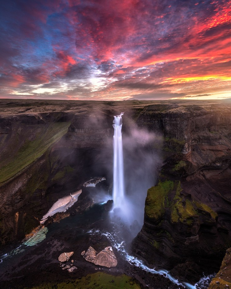 Haifoss sunrise by madspeteriversen - Beautiful Waterfalls Photo Contest