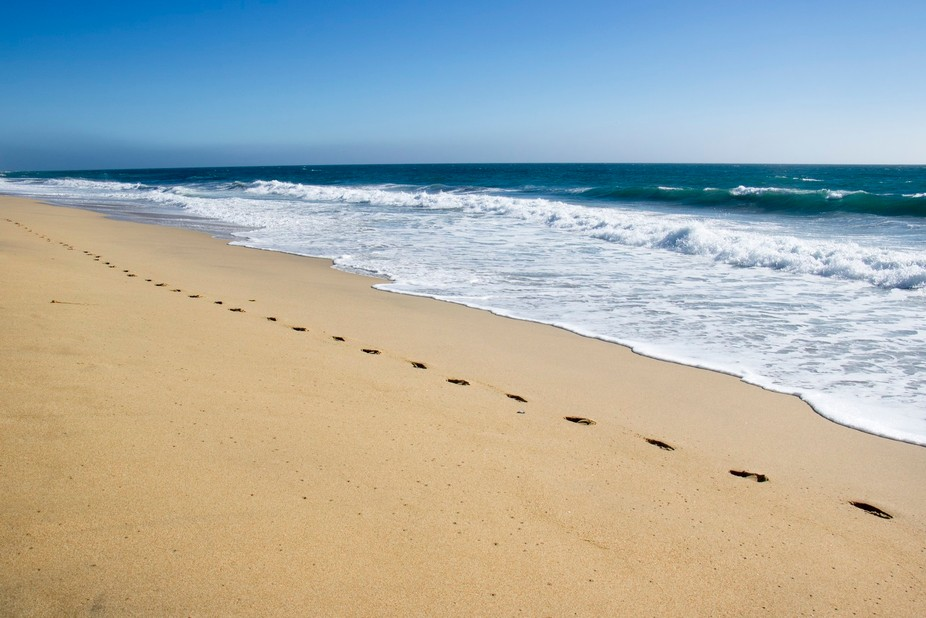 """""""When you saw only one set of footprints, that was when I carried you."""""""