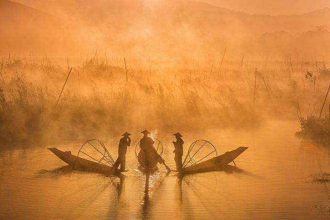 Three Fishermen by zayyarlynn - Explore Asia Photo Contest